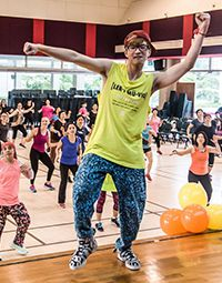 Fun fitness classes such as Zumba, Yoga, K-Kardio and Piloxing for all ages